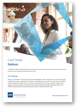 Case Study: Helping Sodexo to Understand Typical Buyer Journeys and Personas